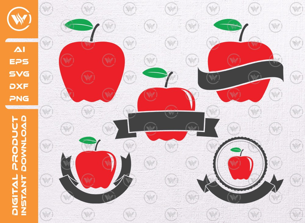 Apple SVG | Apple Levels | Apple Icon SVG Cut File