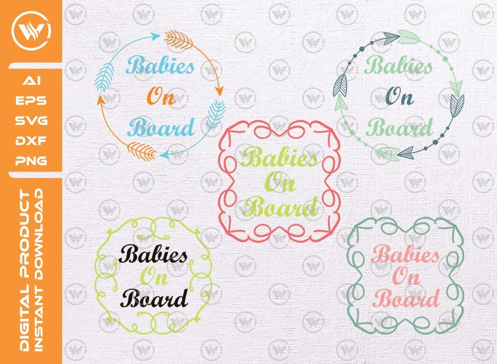 Babies On Board SVG | Babies On Board SVG Cut File