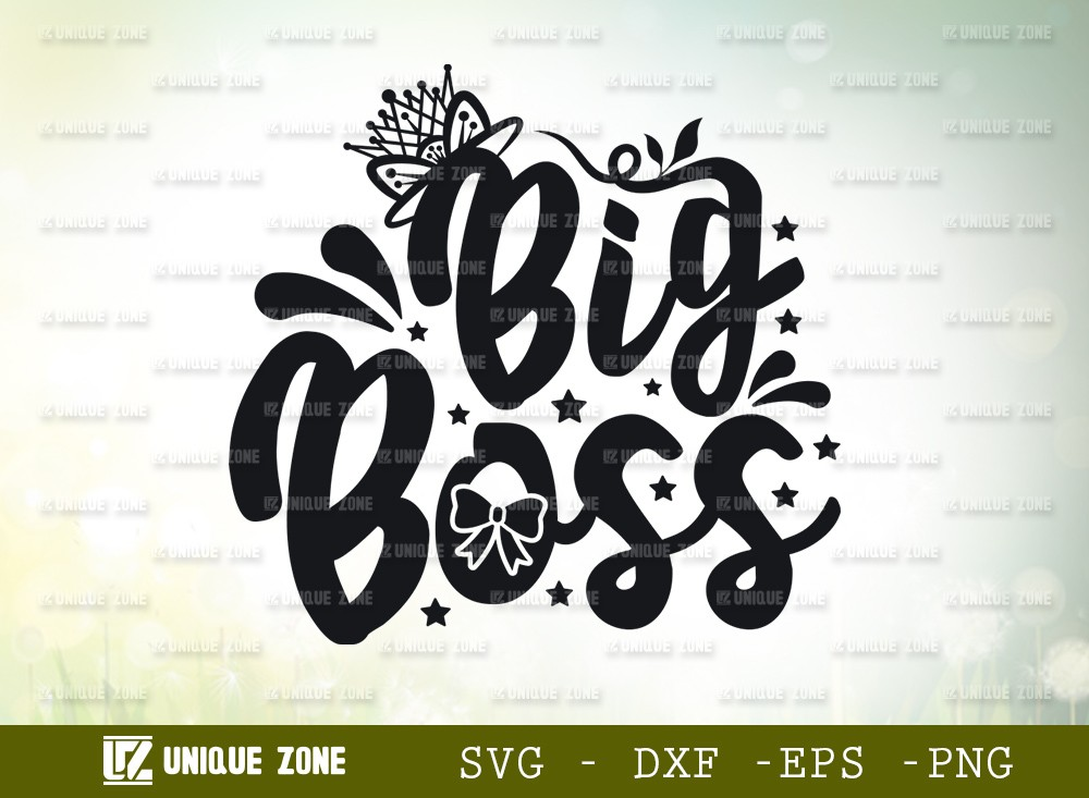 Big Boss SVG Cut File | | Boss Svg | Hustle Svg