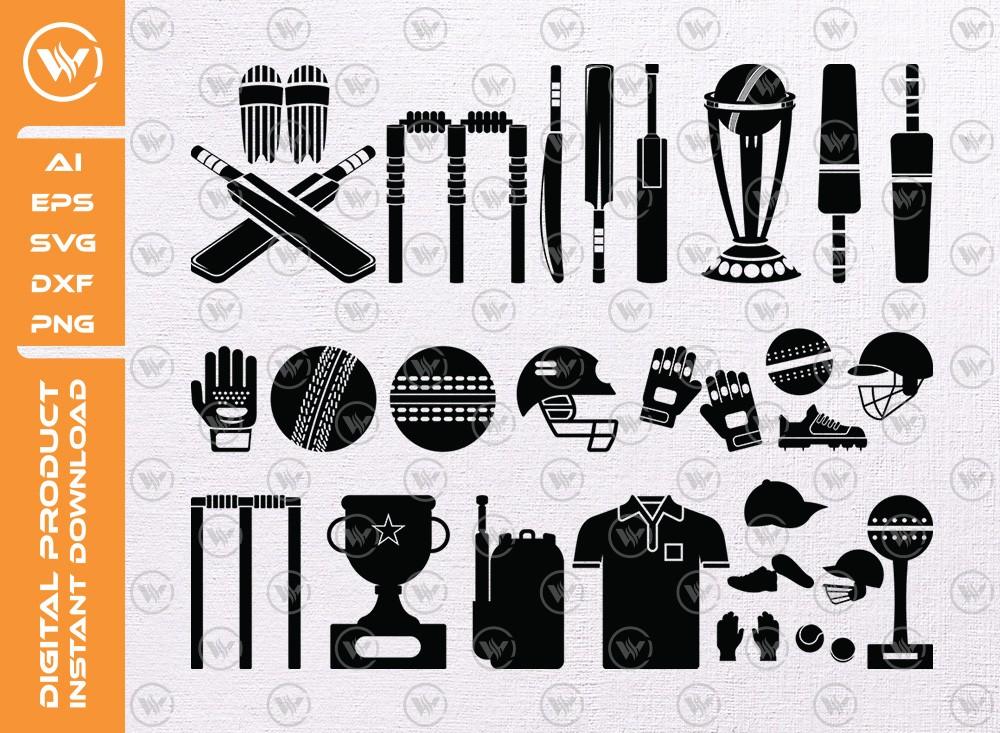 Cricket Element SVG | Element Silhouette | Cricket Icon