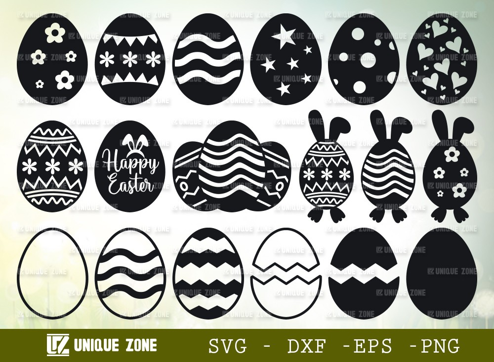 Easter Eggs SVG Cut File | Easter Svg
