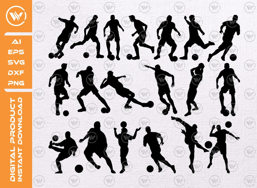Football players SVG | Players Silhouette | Players SVG