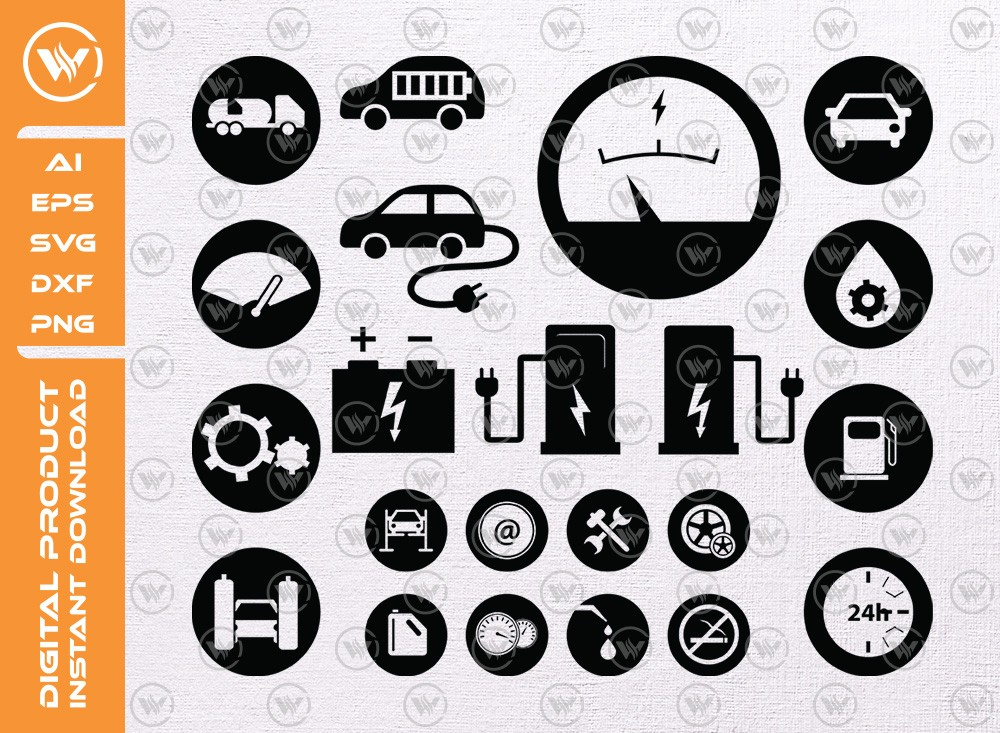 Gas Station icons SVG | GasSilhouette | Gas Pump