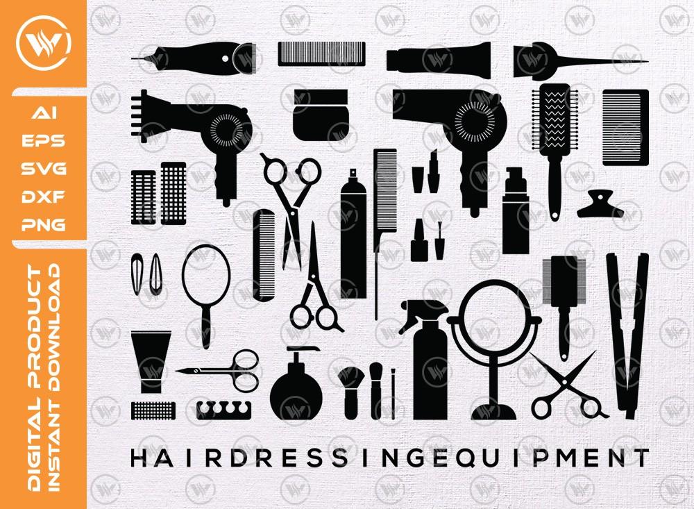 Hairdressing Equipment SVG   Salon Equipment