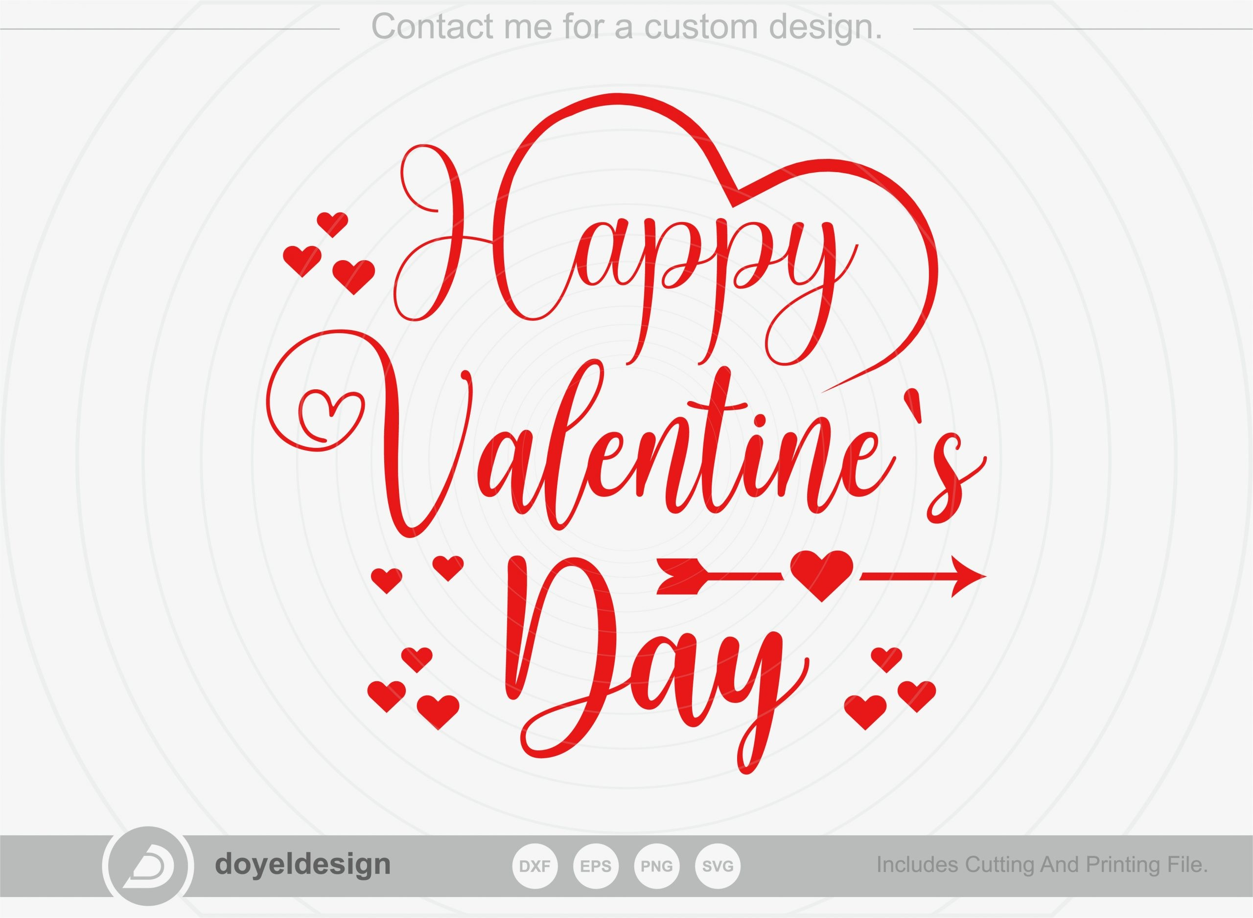 Happy valentines day SVG, T-shirt Design