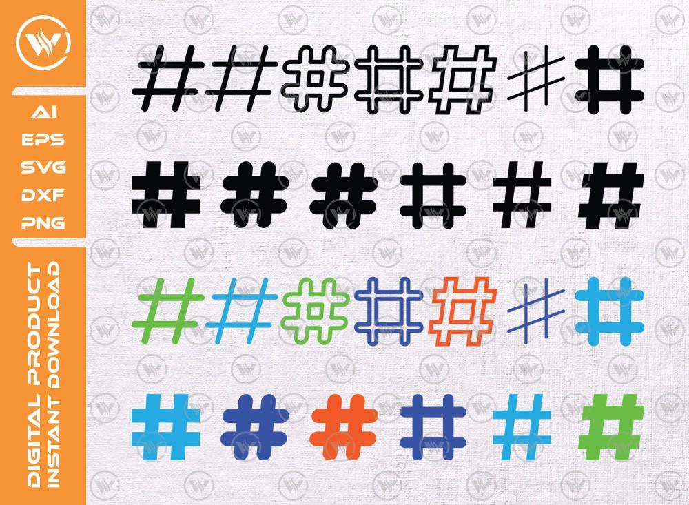 Hashtag SVG | Hashtag levels SVG | Hashtag icon SVG