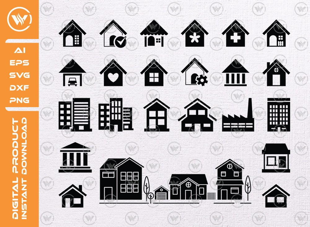 House SVG | House Silhouette | House Icon SVG Cut File