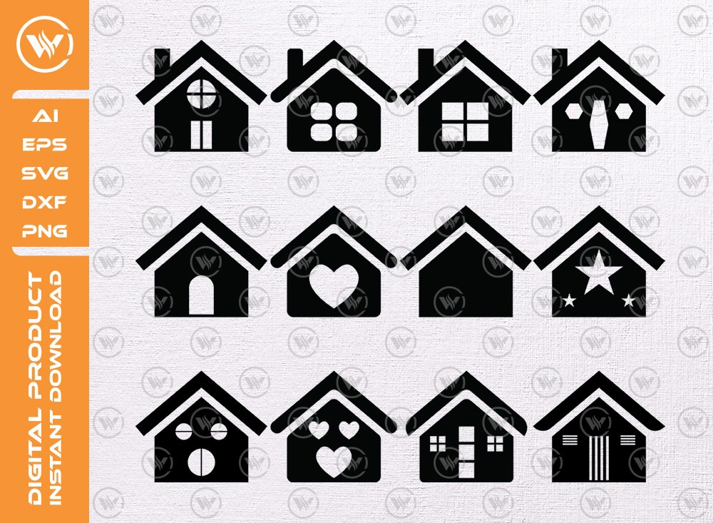 House Small SVG | Small House Silhouette | House Small Icon SVG | House Cut File