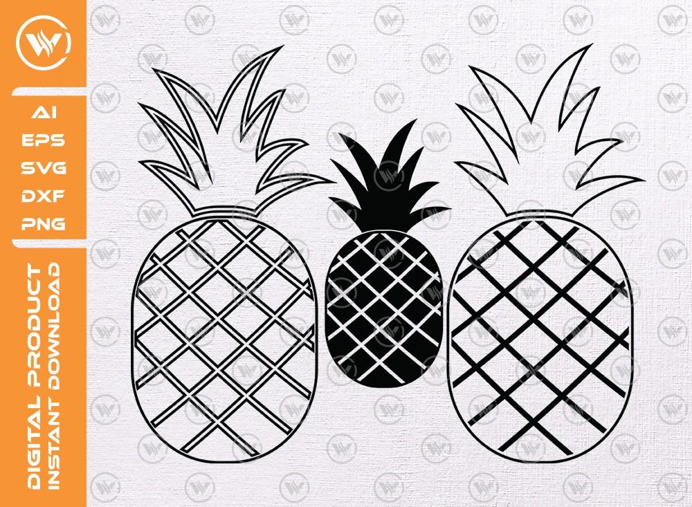 Pineapple SVG   Pineapple Silhouette   Pineapple Icon