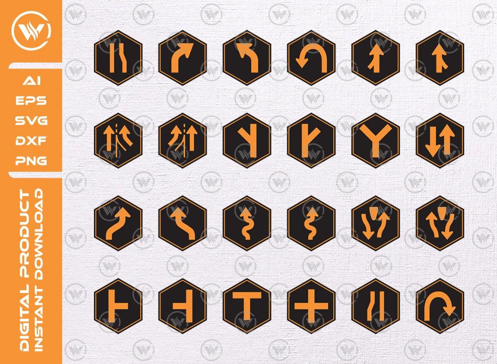 Road signs SVG | Basic Road signs SVG | Road signs icon cut file