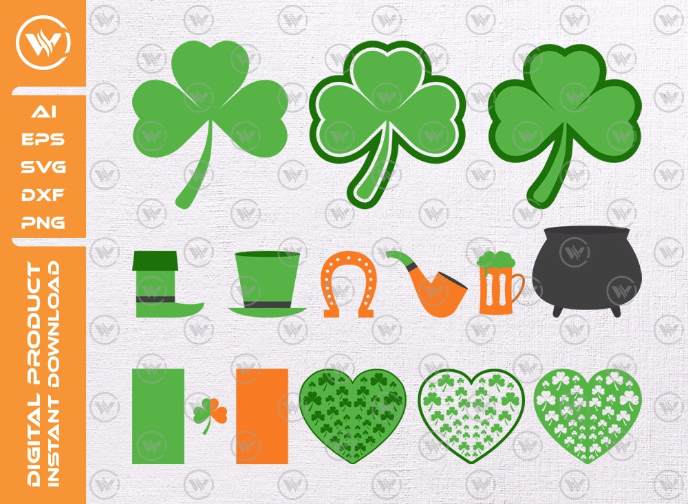 St Patricks day Icon Set | St Patricks day SVG