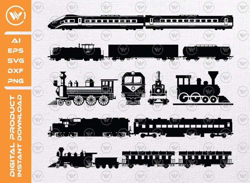 Train SVG | Train Silhouette | Train Icon SVG Cut File
