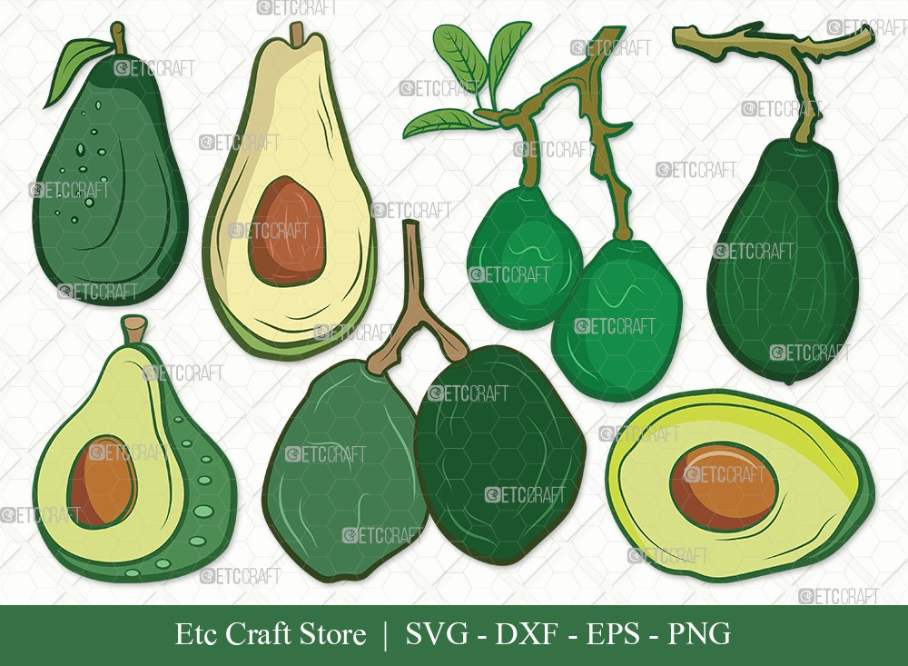 Avocado Clipart SVG Cut File | Avocado Svg