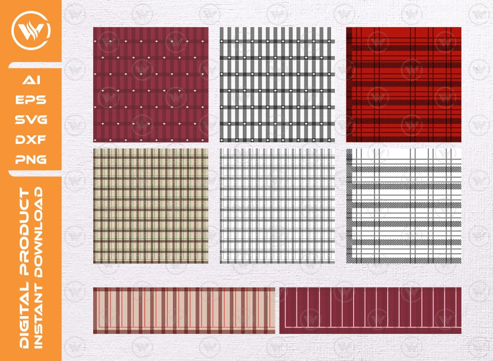 Buffalo Plaid SVG | Pattern Silhouette | Plaid