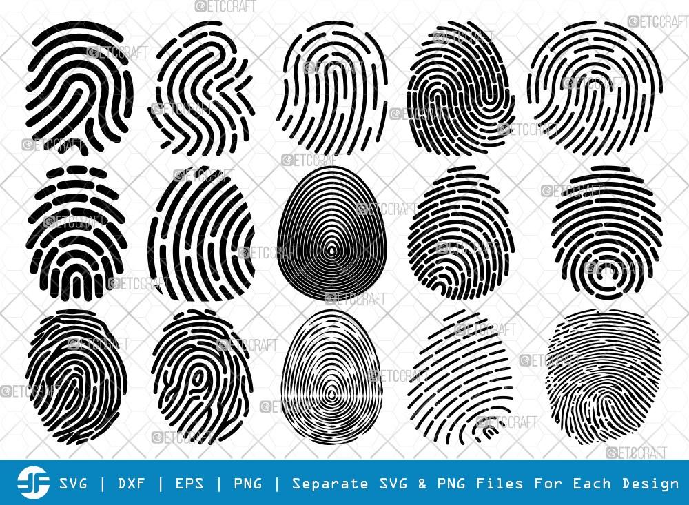 Fingerprint SVG Cut Files   Fingerprint Silhouette