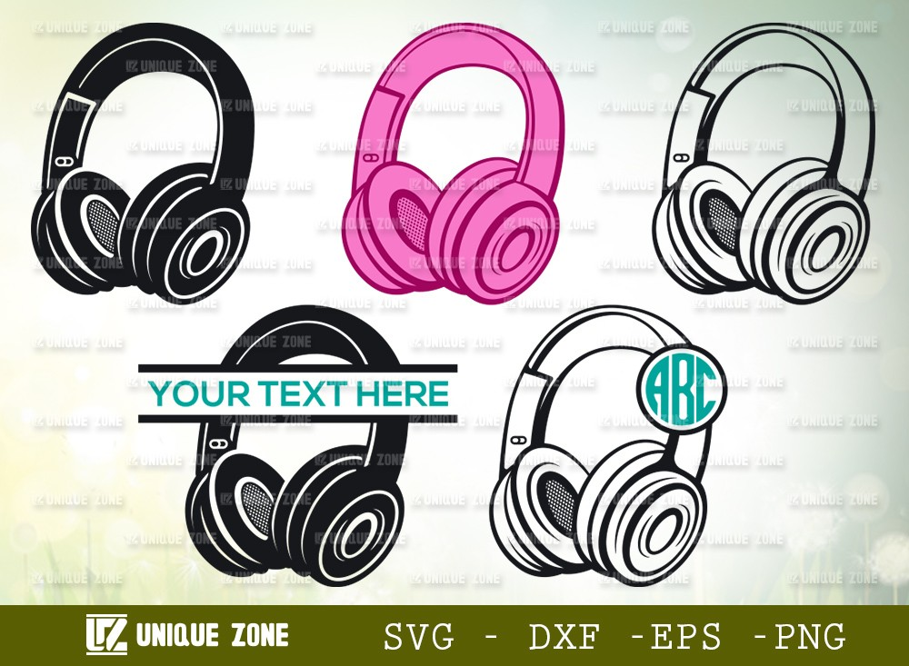 Headphone SVG Cut File | Modern Audio Headset Svg