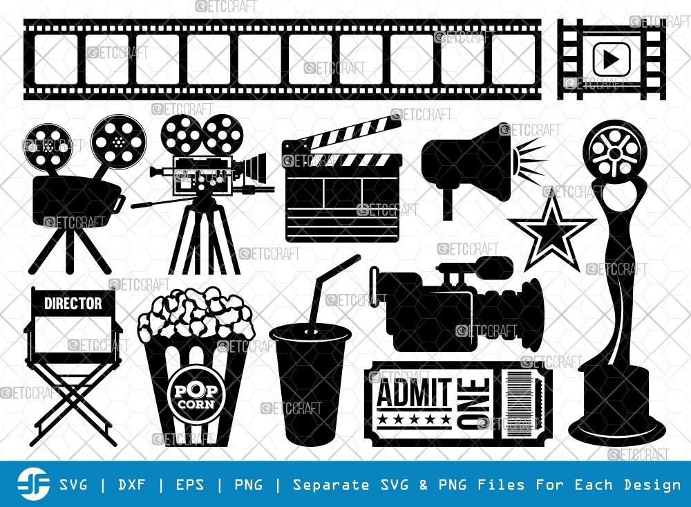 Movie Theme SVG | Movie Theme Silhouette