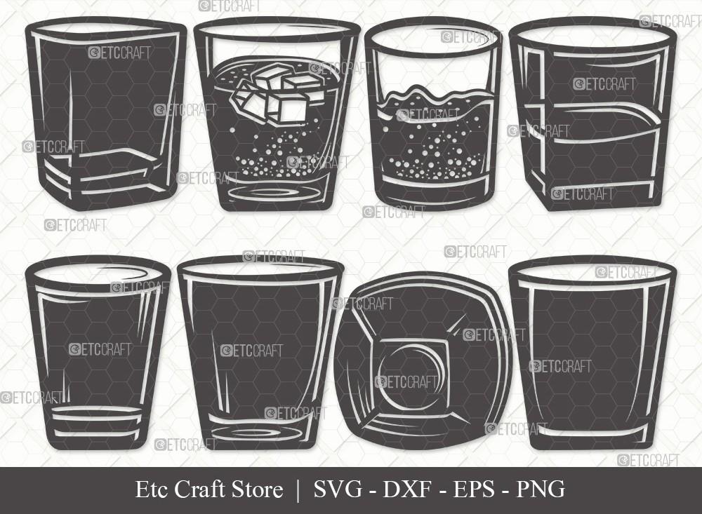 Shot Glass Silhouette SVG | Alcohol Glass Svg