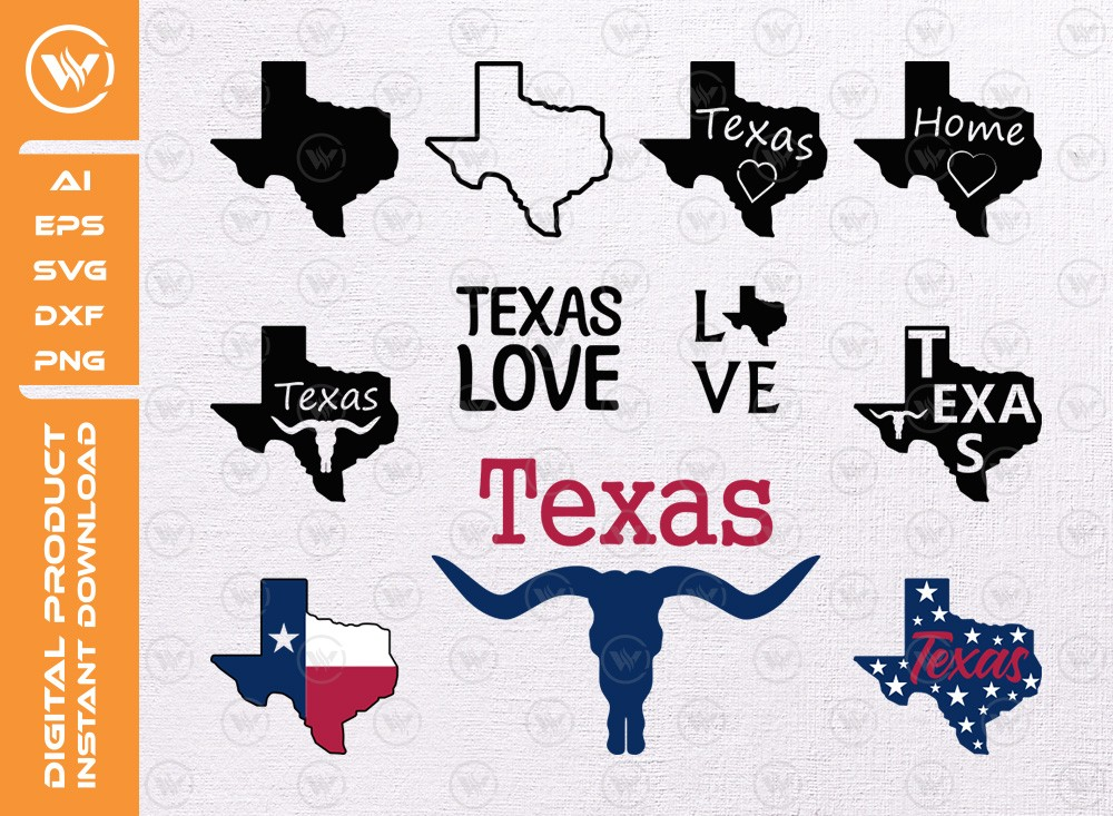 Texas SVG | Texas map svg file | Texas state