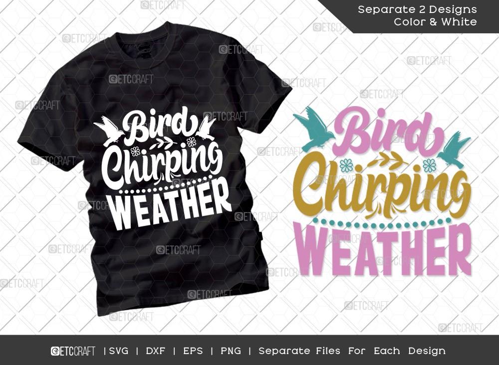 Bird Chirping Weather Svg   Hello Spring Svg