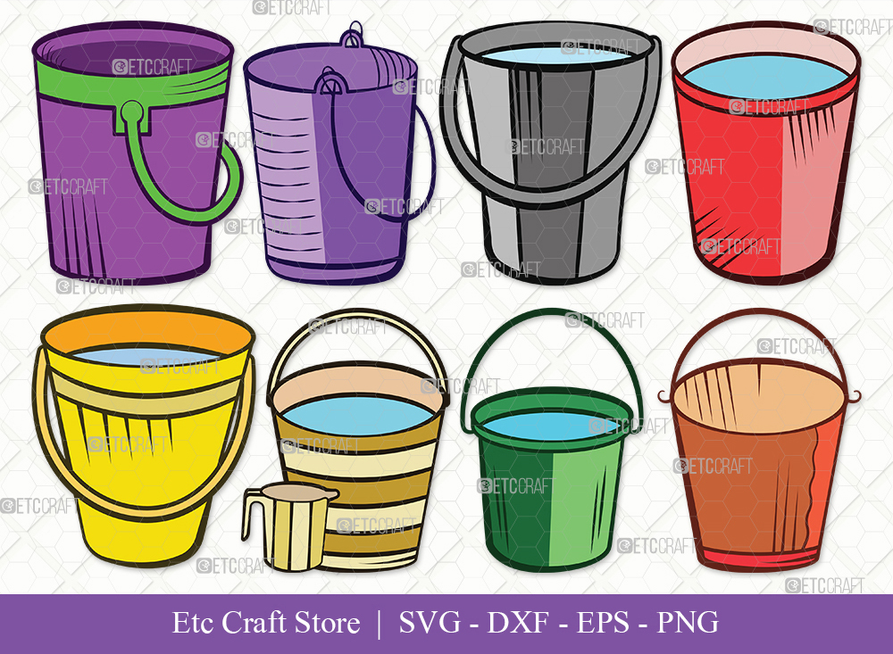 Bucket Clipart SVG Cut File | Cleaning Svg