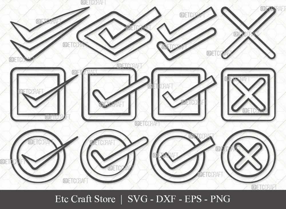 Check Mark Outline SVG Cut File   Tick Mark Svg