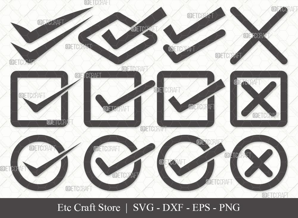 Check Mark Silhouette SVG | Tick Mark Svg