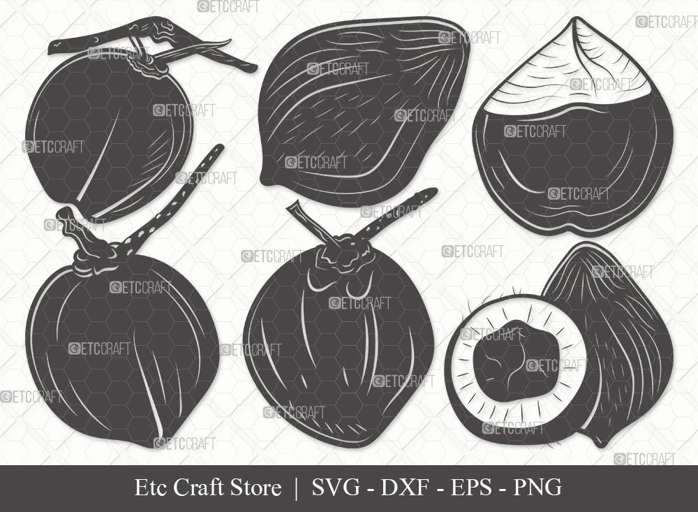 Coconut Silhouette SVG Cut File | Fruit Svg