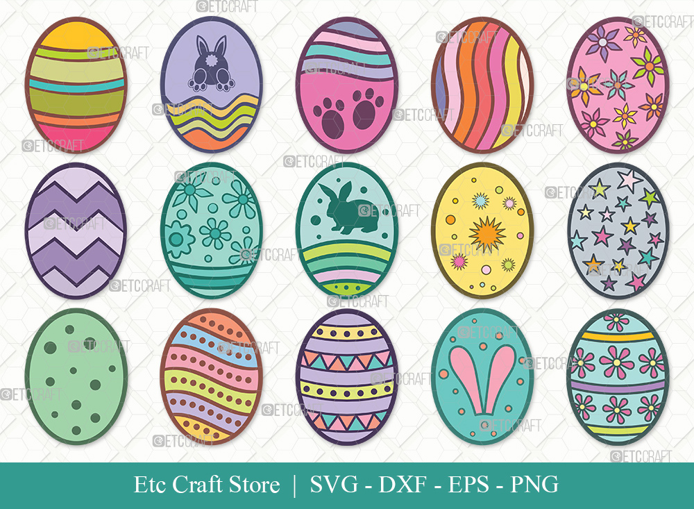 Easter Egg Clipart SVG Cut Files | Easter Svg