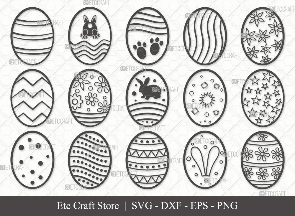 Easter Egg Outline SVG Cut File | Easter Svg