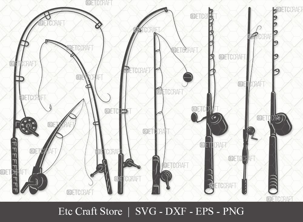 Fishing Rod Silhouette SVG | Fishing Pole Svg
