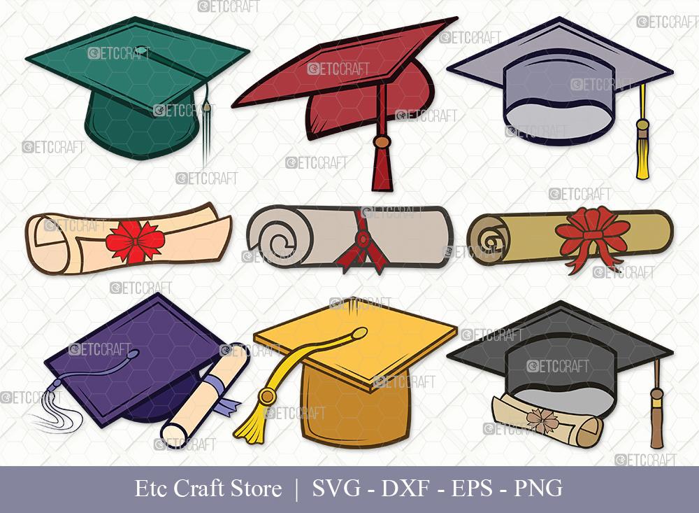 Graduation Cap Clipart SVG Cut File   Graduation Svg