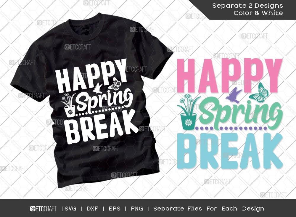 Happy Spring Break SVG Cut File | Hello Spring Svg