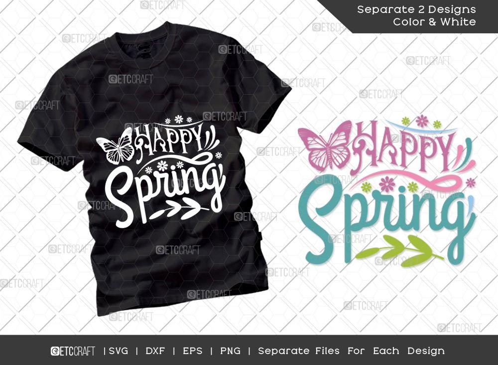 Happy Spring SVG Cut File | Hello Spring Svg