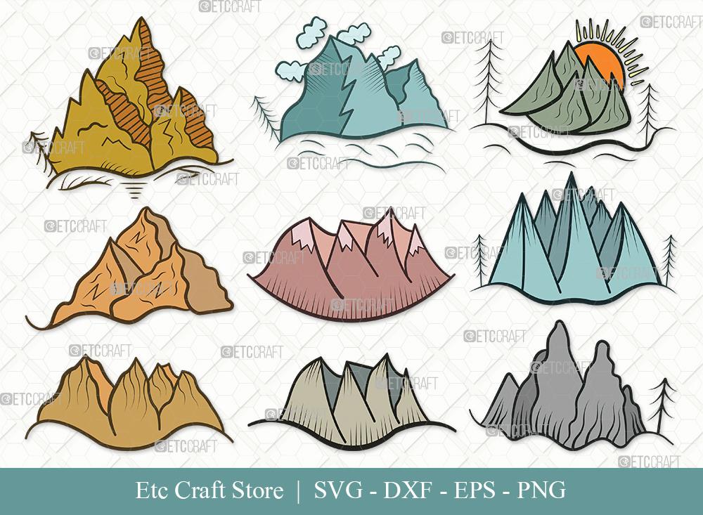 Mountain Clipart SVG Cut File | Nature Svg