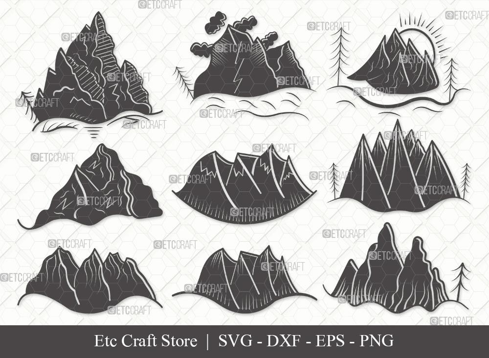 Mountain Silhouette SVG Cut File | Nature Svg