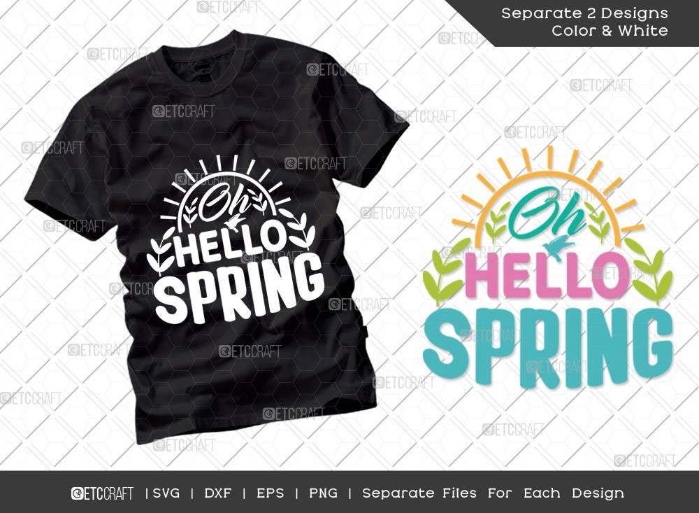 Oh Hello Spring Svg Cut File | Hello Spring Svg