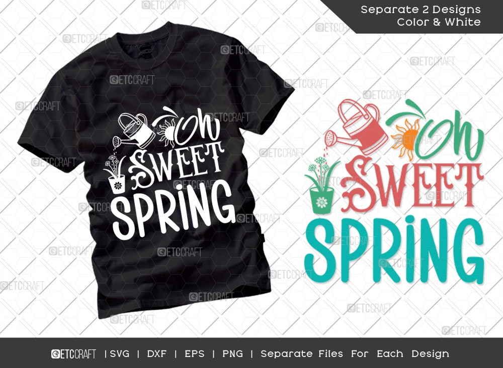 Oh Sweet Spring SVG Cut File | Hello Spring Svg