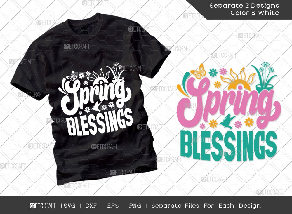 Spring Blessings SVG Cut File | Hello Spring Svg