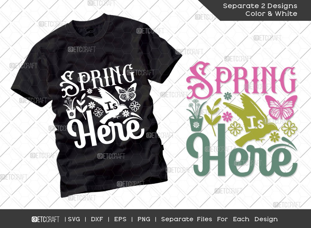 Spring Is Here SVG Cut File | Hello Spring Svg