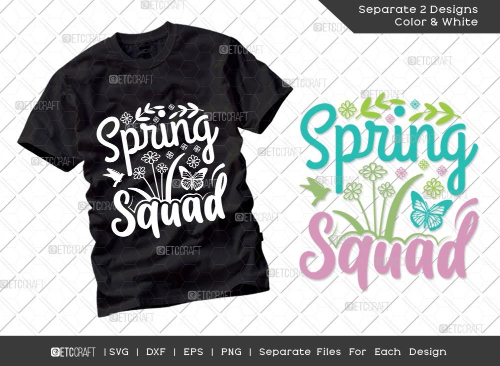 Spring Squad Svg Cut File | Hello Spring Svg