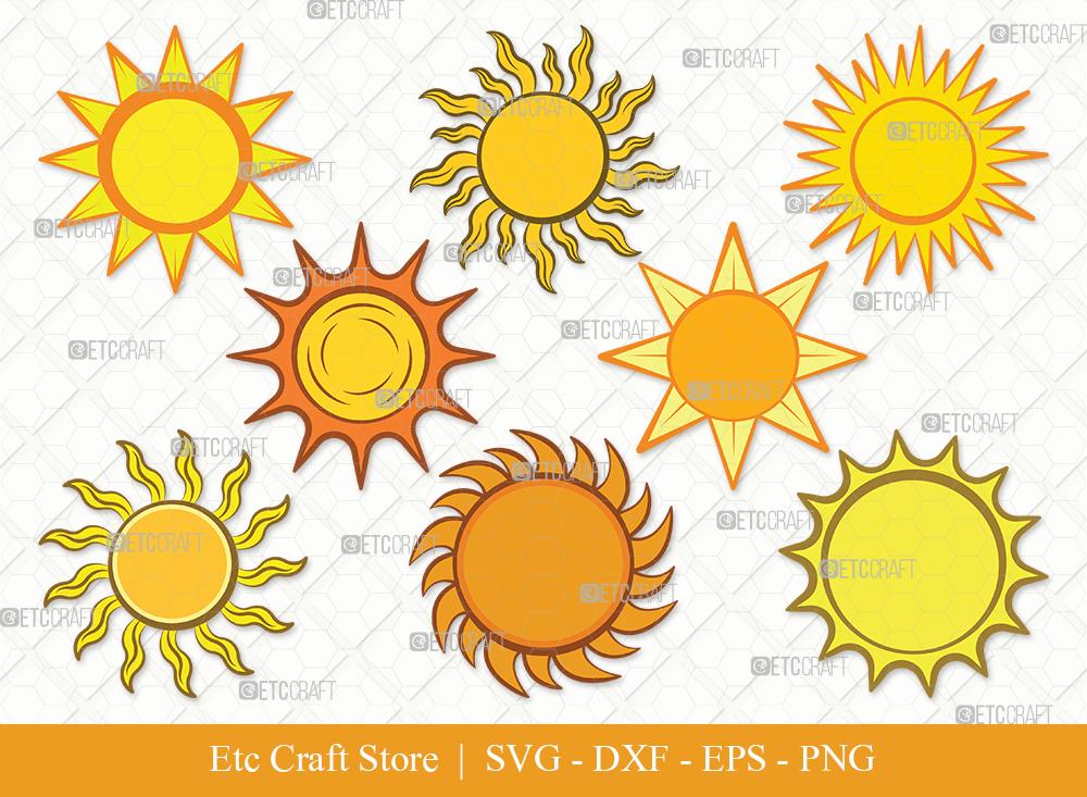 Sun Clipart SVG Cut File | Sunshine Svg