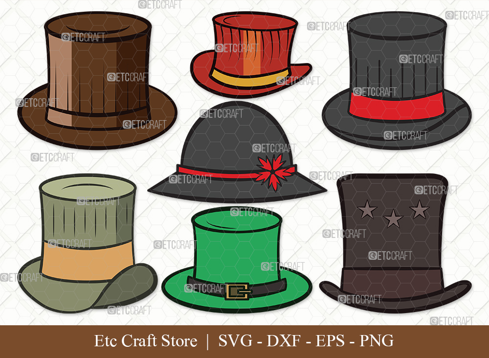 Top Hat Clipart SVG Cut File | Party Hat Svg