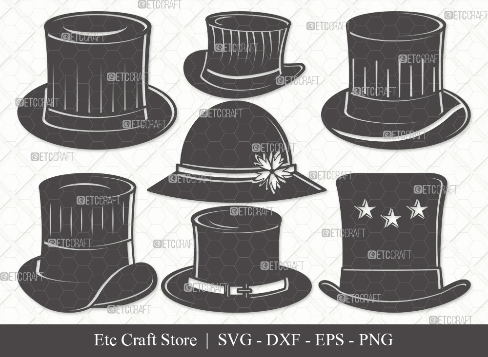 Top Hat Silhouette SVG Cut File | Party Hat Svg