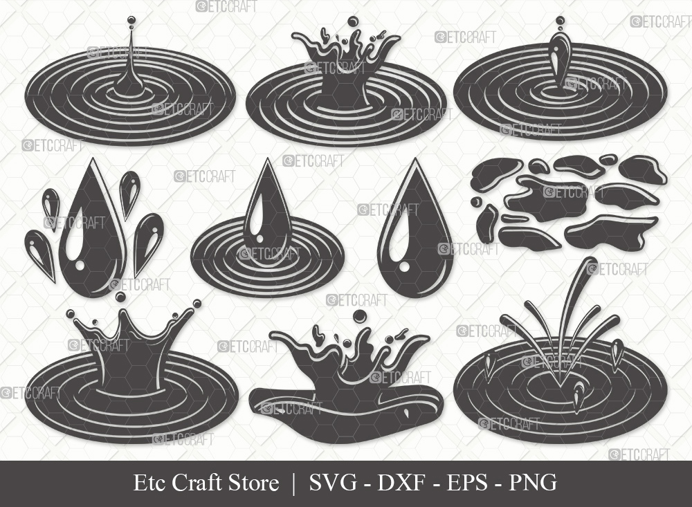 Water Droplets Silhouette SVG | Drop Svg