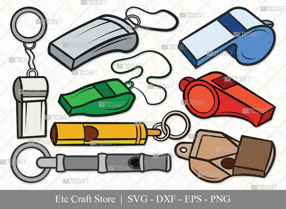 Whistle Clipart SVG Cut File | Sport Svg