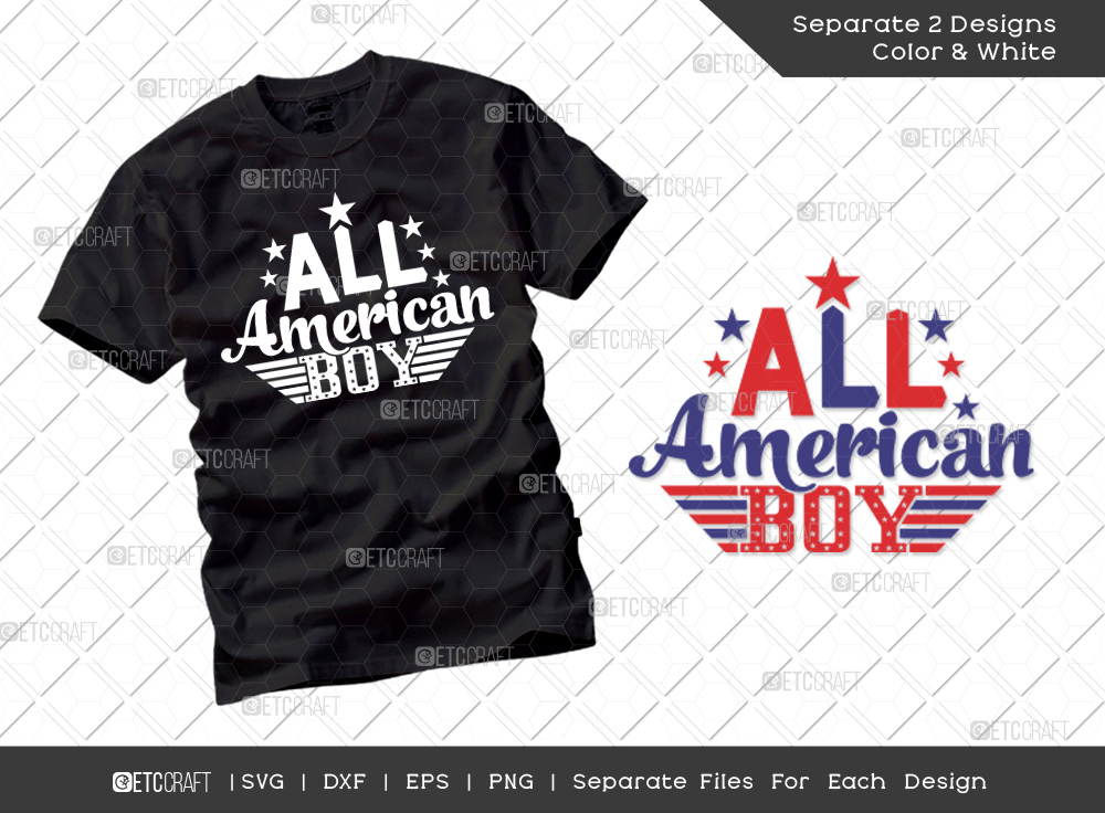 All American Boy SVG | Independence Day Svg