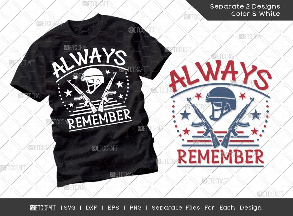 Always Remember SVG Cut File | Soldier Svg