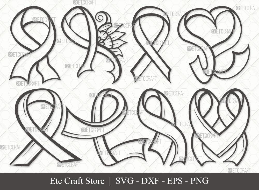 Awareness Ribbon Outline SVG | Ribbon SVG