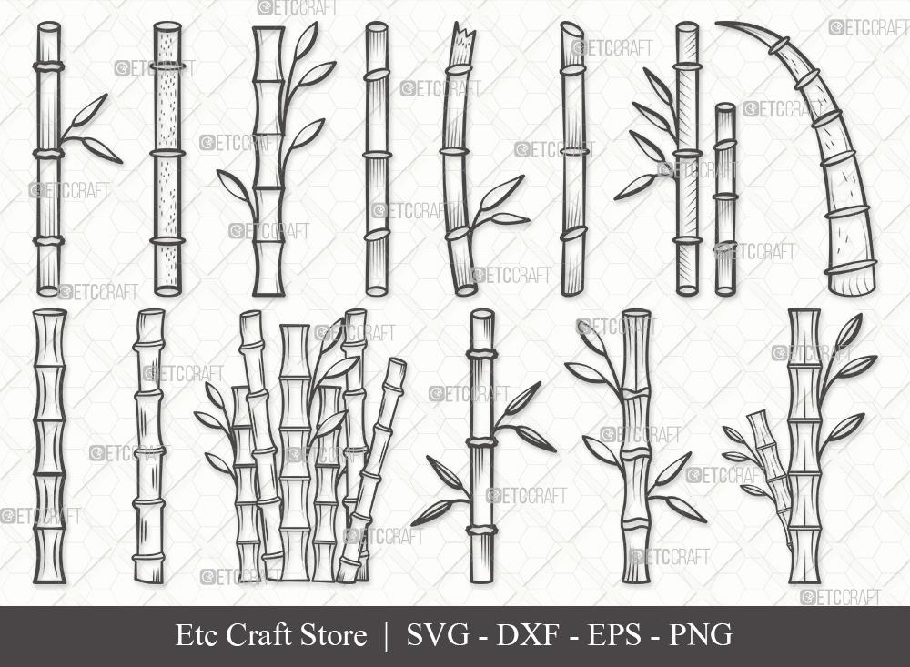 Bamboo Outline SVG | Bamboo SVG Bundle